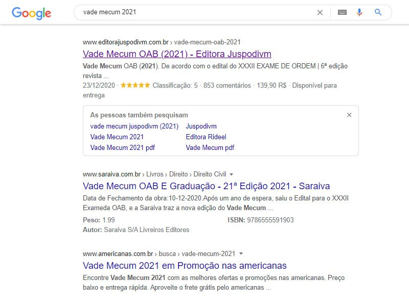 Rich snippets nas SERPs